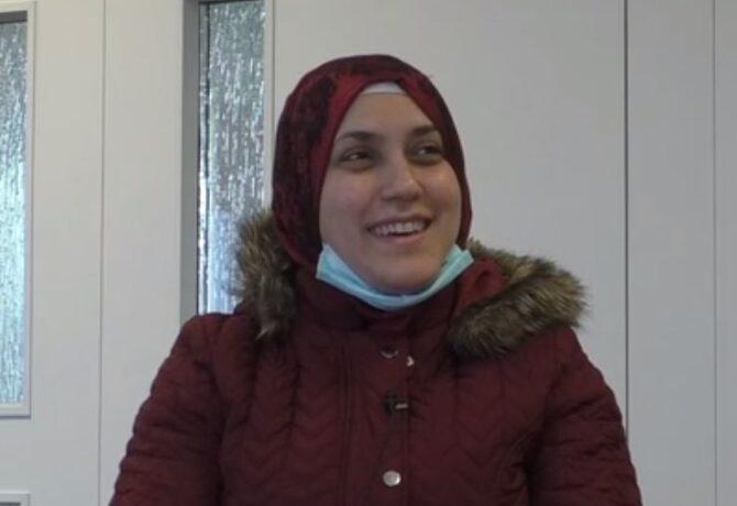 portret Syrische moeder
